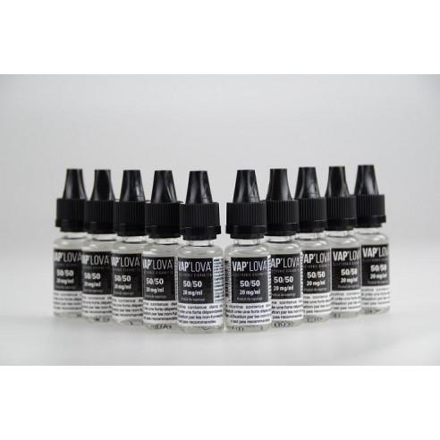 Pack 10 boosters de Nicotine 50/50 - Vap'Lova